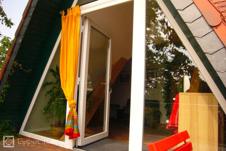 Ferienwohnung Dambeck Balkon