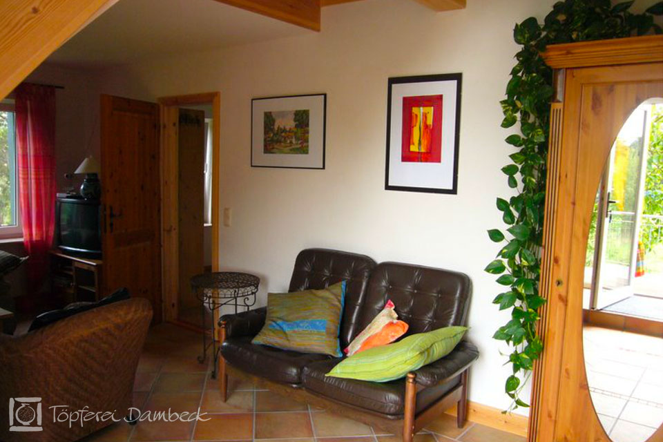 Ferienwohnung Dambeck Wohnzimmersessel