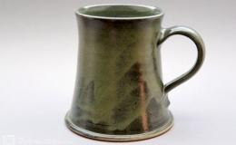 Töpferei Dambeck - Steinzeug grün Bierkrug