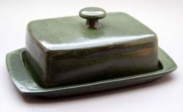 Töpferei Dambeck - Steinzeug grün Käseglocke