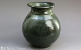 Töpferei Dambeck - Steinzeug grün kleine Vase