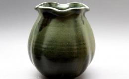 Töpferei Dambeck - Steinzeug grün Vase